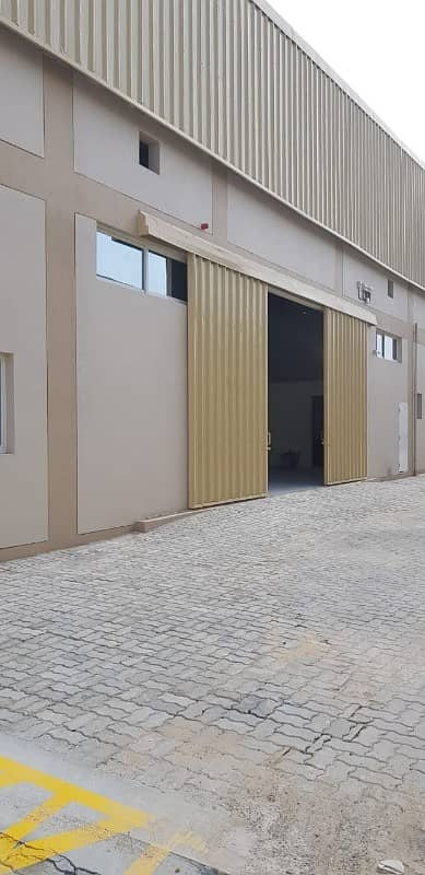 Immediate possession. 19200 Sqft insulated warehouse with 15 meters height. 480000 AEDUp to date fire system installed with fire sprinklers. CALL RAWAL RAI