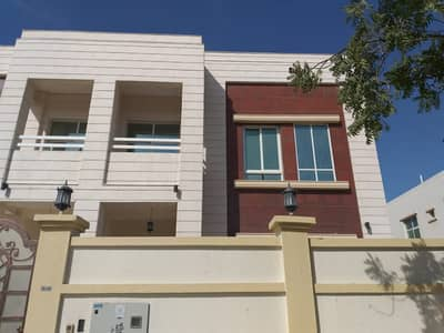 5 Bedroom Villa for Rent in Al Jazzat, Sharjah - Br. New 5 BHK VIlla with big majlis, living dining, C. a/c , covd parking, balcony, store, laundry