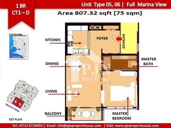 12 Vacant 1 Bedroom For Sale In Marina Blue.
