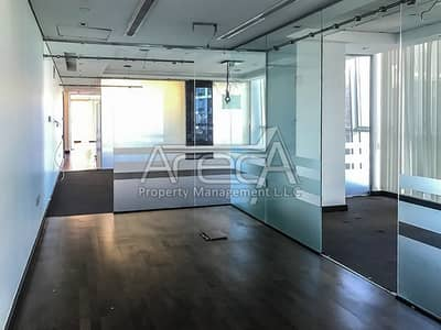 Office for Rent in Al Khalidiyah, Abu Dhabi - Fully Fitted, Sea Front Ready to Move in Office! 2 Parkings in Al Khalidiya