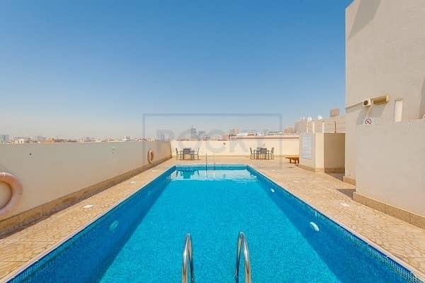 12 1 Bedroom | Swimming Pool & Gym |Central Split A/C | Al Nahda