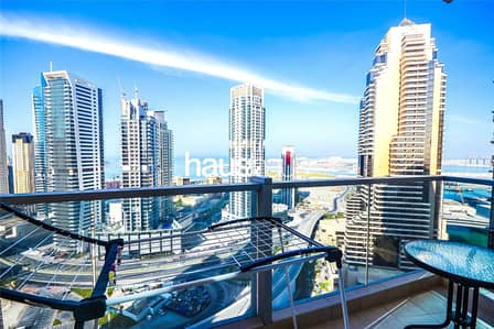 1 Bedroom Apartment for Rent in Dubai Marina, Dubai - Amazing Sea View | Unfurnished | 1 Bed |