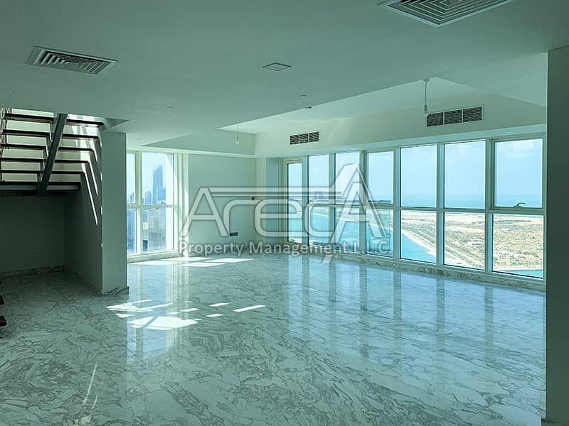 Panoramic Sea View with Exquisite, Brand New 5 Bed Duplex! Corniche Abu Dhabi