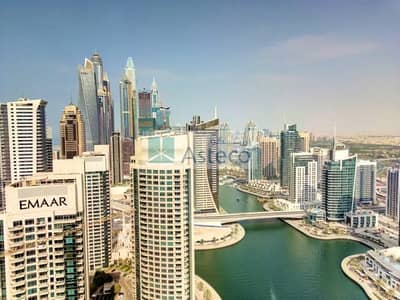 3 Bedroom Apartment for Rent in Dubai Marina, Dubai - 3BR+M brand new apartment wth full Marina view