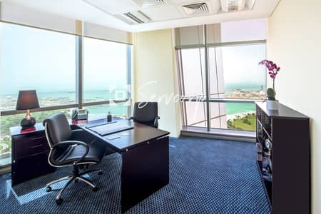 Office for Rent in Corniche Road, Abu Dhabi - Sophisticated Office with Incredible Views in Etihad Towers