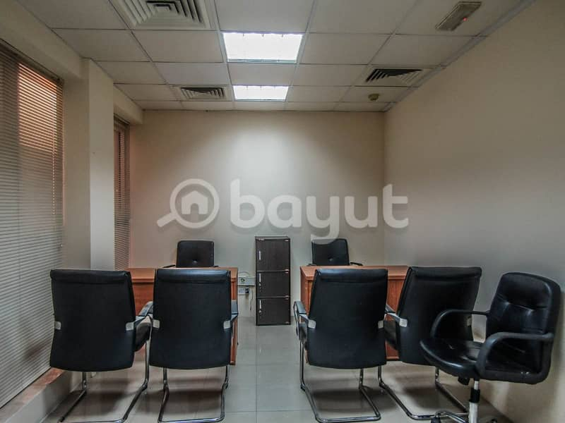 Office in Deira with good location and ambiance | Free Dewa, Wifi, Chiller