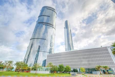 Office for Rent in Al Reem Island, Abu Dhabi - Shell and Core unit near shops I Sky Tower