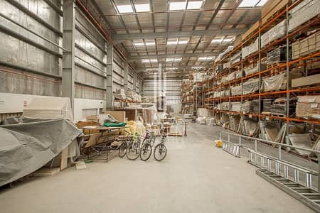 Warehouse for Rent in Jebel Ali, Dubai - Vacant Warehouse l Fitted Space Property