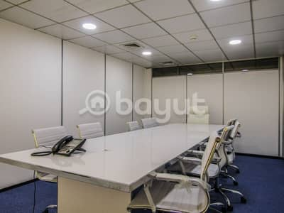 Office for Rent in Al Garhoud, Dubai - Newly Open Smart Offices in Dubai with Free Utilities and Wifi