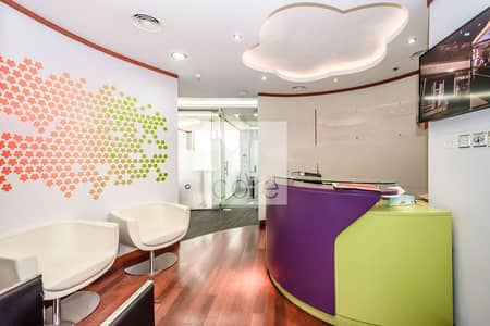 Office for Rent in Dubai Internet City, Dubai - Fitted partitioned in Business Central A