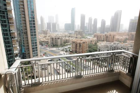 2 Bedroom Apartment for Rent in Downtown Dubai, Dubai - Two Bedroom with Balcony Boulevard Central