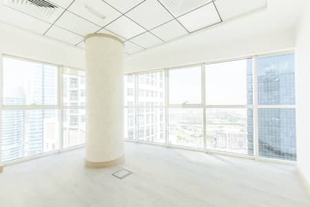 Office for Rent in Jumeirah Lake Towers (JLT), Dubai - Fitted with Partitions Office | High Floor