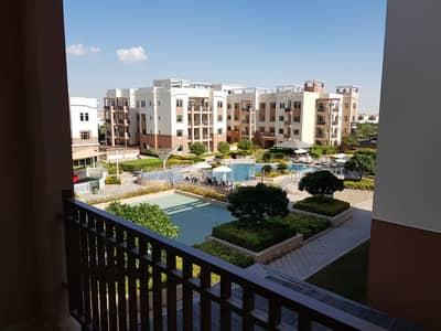 2 Bedroom Flat for Rent in Al Ghadeer, Abu Dhabi - Terrace apt w/2 balconies 52k only.