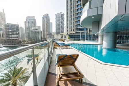 1 Bedroom Apartment for Rent in Dubai Marina, Dubai - Spacious Living Room 1 Bed with Balcony