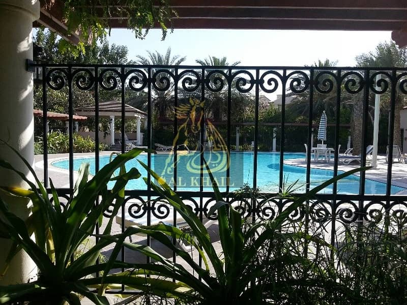 Corner 3 br +study and maid room villa for sale in Green Community East