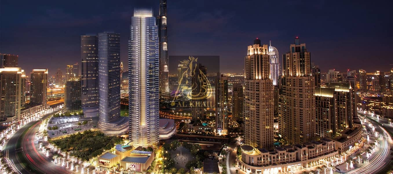 9 Magnificent Large 3BR Apartment for sale in Downtown Dubai | 3 Years Post handover | 50% Off DLD Waiver | Best Location