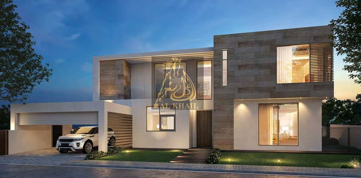 2 Superb Spacious 5BR Villa for sale in Aljada | Easy Payment Plan with 1% Monthly Installment | Only 5% Booking Fee!