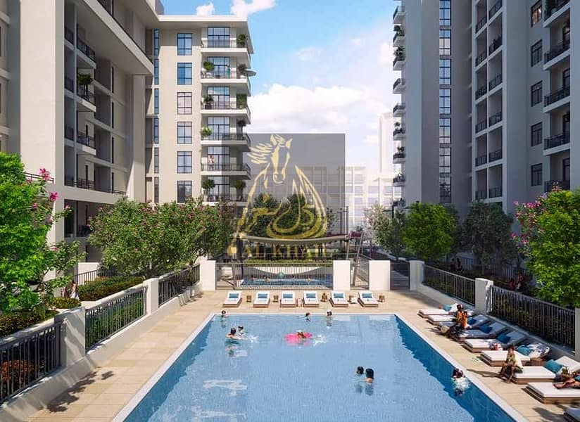 Luxurious 3-Bedroom Apartment for sale in Town Square Dubai   50/50 Payment Plan   Stunning Park Views