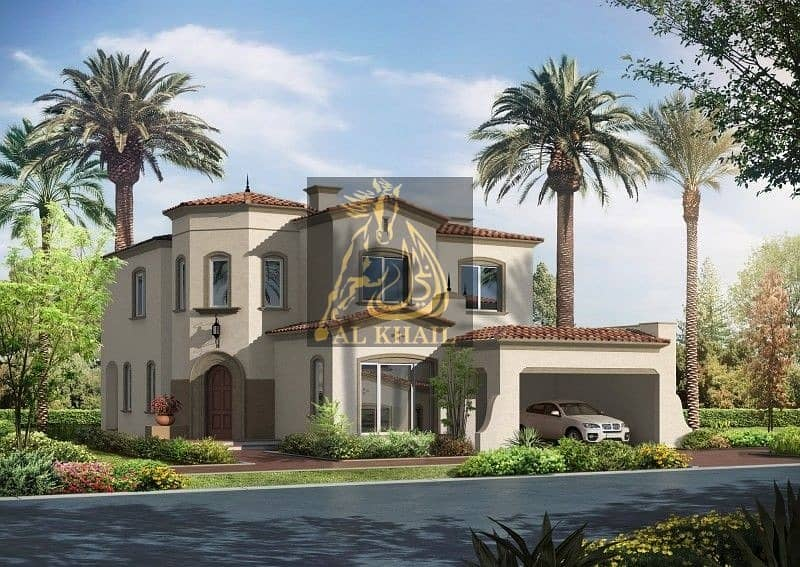 12 5BR Villa for sale in Arabian Ranches   on payment plan w/ Accessible Location