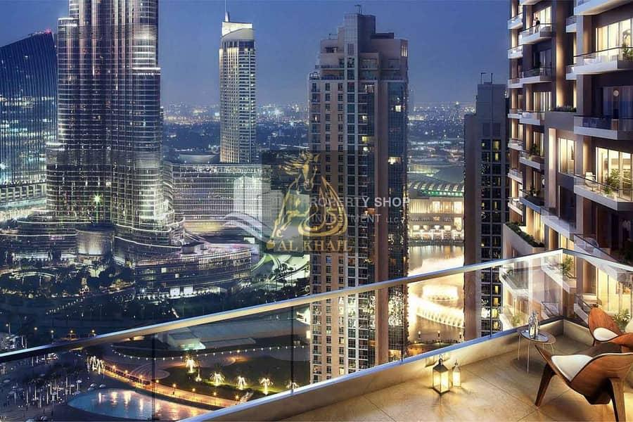 10 High-end 2-BR Apartment for sale in Downtown Dubai | 10% Booking Fee | Burj Khalifa & Dubai Fountain Views