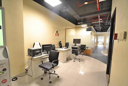 Office for Rent in Jumeirah Village Circle (JVC), Dubai - AMAZING DEAL!! FULLY FURNISHED & PARTITIONED OFFICE SPACE