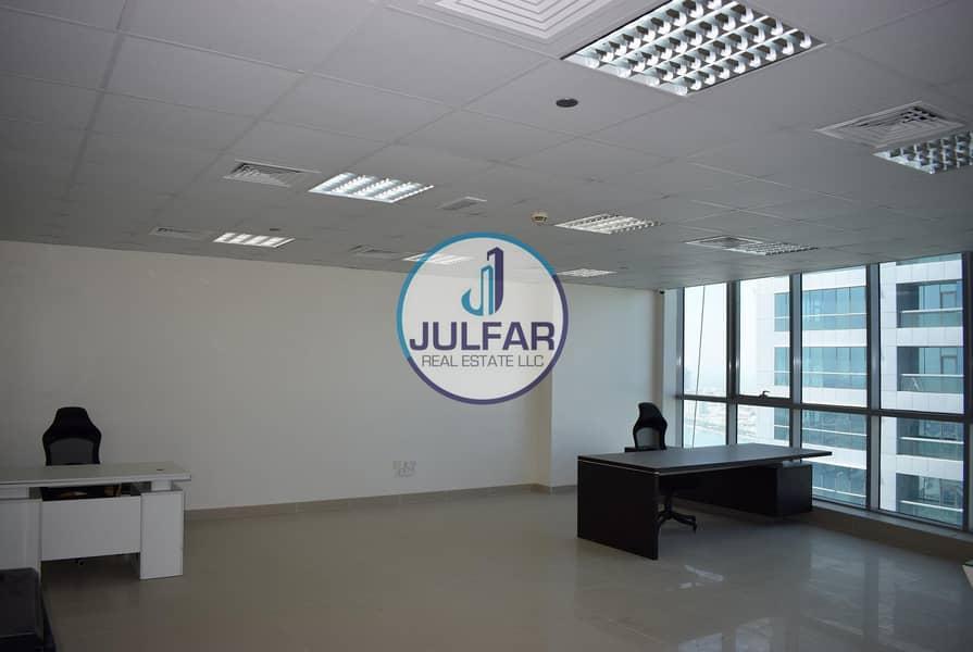 High Floor Sea View Office For Rent In Julphar Tower.