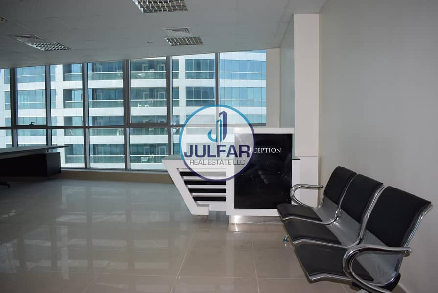 2 High Floor Sea View Office For Rent In Julphar Tower.
