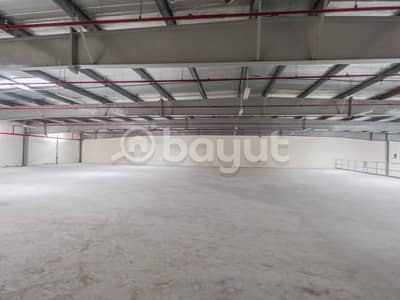 Warehouse for Rent in Al Jurf, Ajman - NEW BIG WAREHOUSE WITH HIGH VOLTAGE
