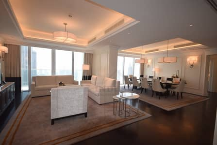 4 Bedroom Flat for Rent in Downtown Dubai, Dubai - Must See! 4BR + M |Burj and Fountain Views