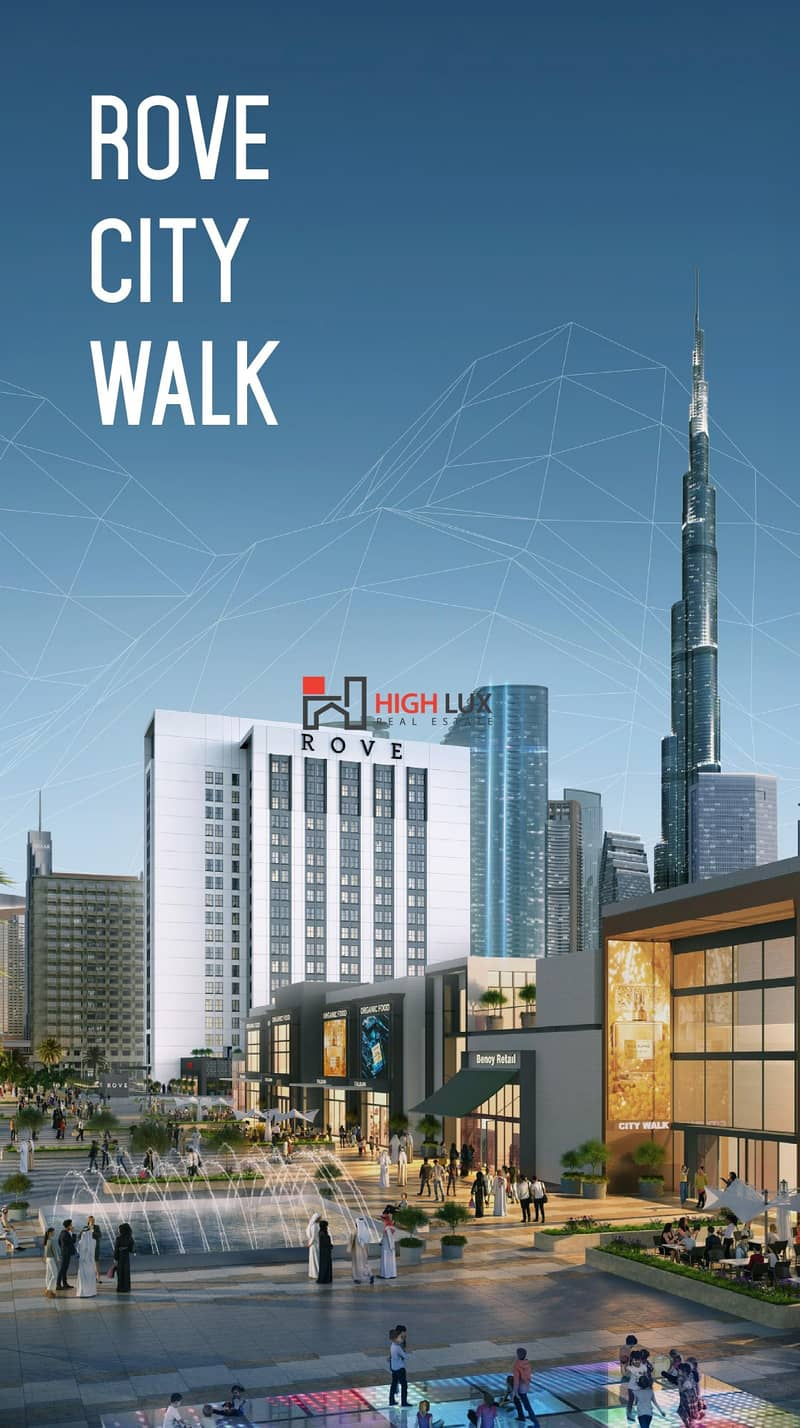 Rove Hotel City walk by Emaar offers luxurious apartments for investment in a prime location