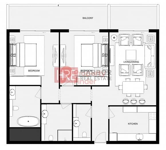 22 HOT OFFER! Ready 2 Bed for 1.1M |0 Commission