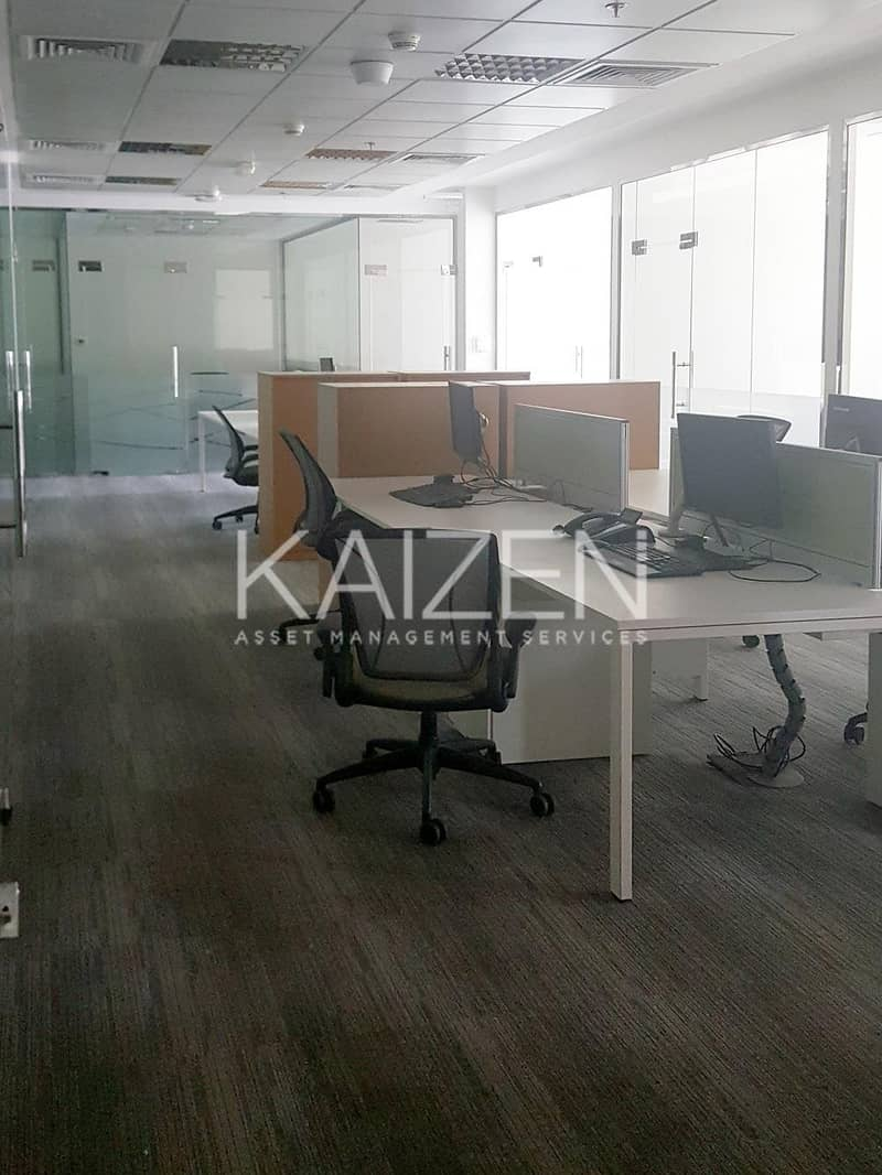 2 Fully Fitted and Furnished Office Space in a Premium Building