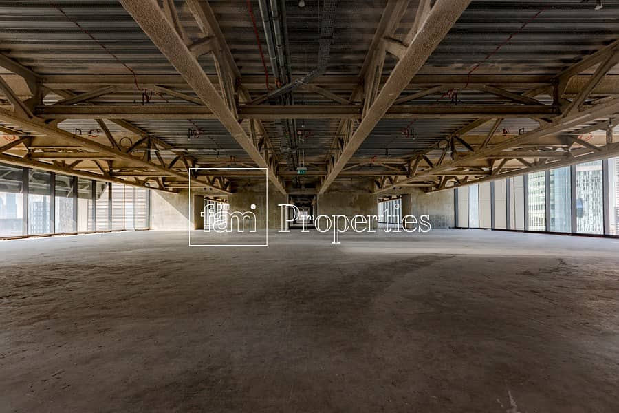 Shell and Core Full Floor in Index Tower