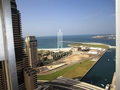 1 Bedroom Flat for Rent in Dubai Marina, Dubai - Awesome Furnished High Floor   Sea Views