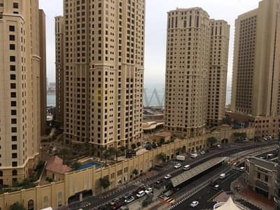1 Bedroom Flat for Rent in Dubai Marina, Dubai - Furnished_partial sea view_1 Bed Wharf 1