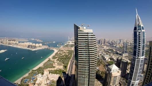 5 Bedroom Penthouse for Rent in Dubai Marina, Dubai - Sea View Five Bedroom Penthouse in Elite Residence