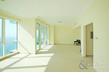 2 Bedroom Flat for Rent in Jumeirah Beach Residence (JBR), Dubai - Private Beach | Sea Views | Unfurnished