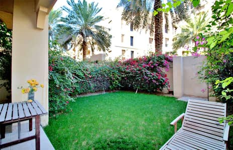 1 Bedroom Apartment for Sale in Old Town, Dubai - 1 Bed + Garden   Partial Burj View