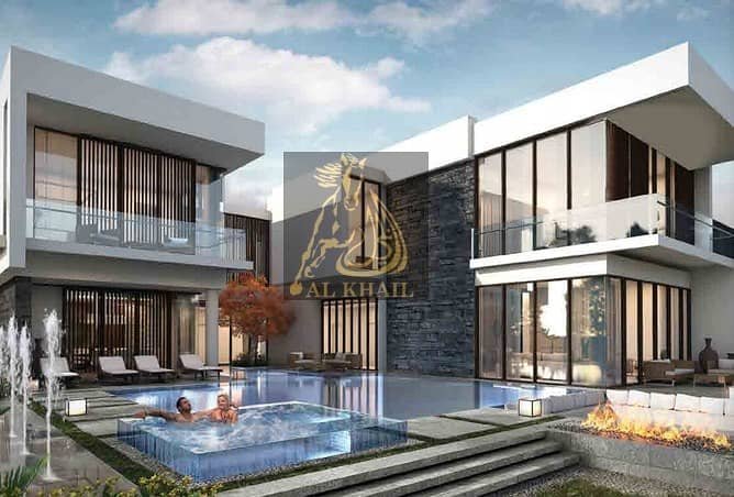 Fully Furnished - Ready to move Wide 6BR Luxury Villa in Damac Hills  Payable over 2years