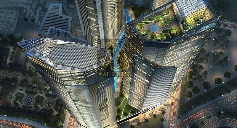 1BR Apartment for Sale in Sheikh Zayed Road near Dubai Canal - By 5 years Payment Plan AED 926