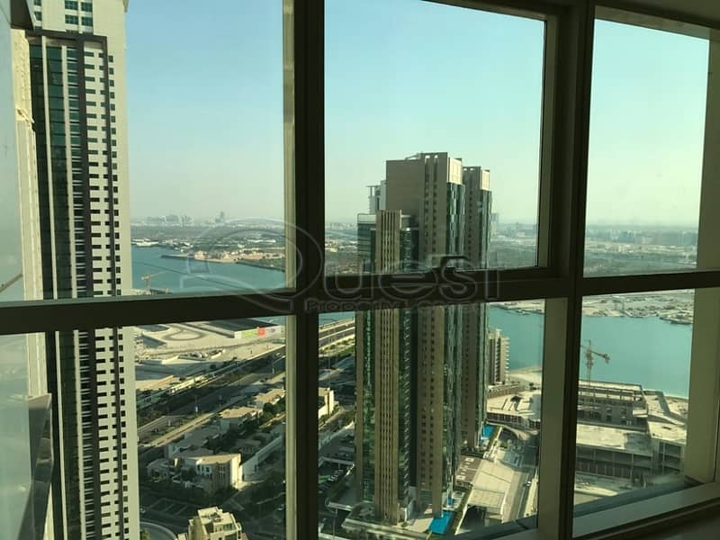 Spacious Sea View Marina Square 1 Bed in Burooj 56K!!