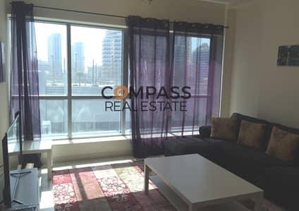 شقة 1 غرفة نوم للايجار في دبي مارينا، دبي - Fully Furnished 1Bedroom Apt in Point Tower