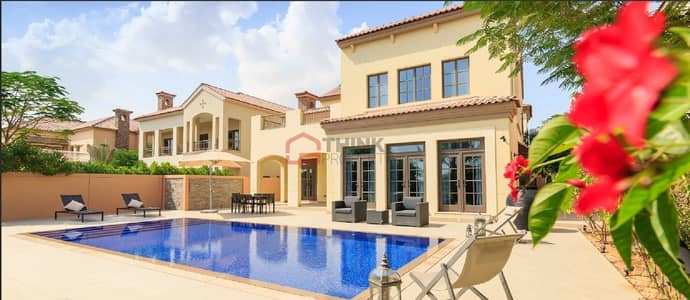 5 Bedroom Villa for Sale in Jumeirah Golf Estate, Dubai - Best Price Upgraded 5BR+M Flame Tree Ridge