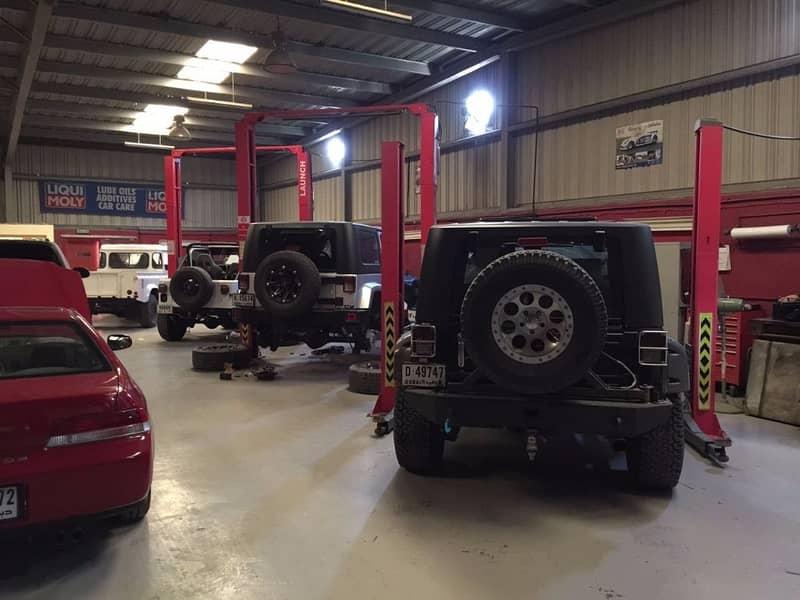 Al Qouz Industrial 3- Car Garage wit0h paint room