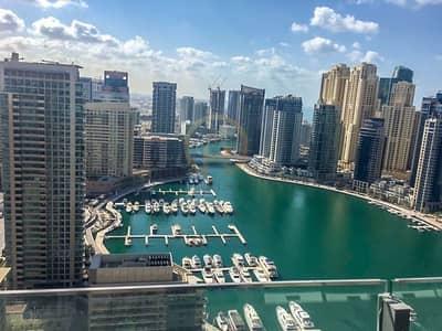 1 Bedroom Flat for Rent in Dubai Marina, Dubai - 1BR with Marina View - Silverene A
