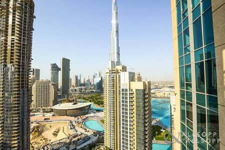 1 Bedroom Apartment for Rent in Downtown Dubai, Dubai - High Floor | Balcony | Burj Khalifa View