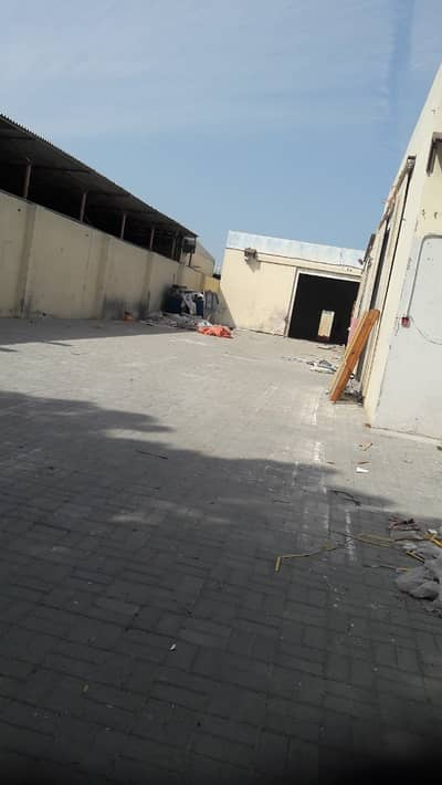 Industrial Land for Rent in Industrial Area, Sharjah - Yard (10,000 Sq/Ft) with 3 warehouse in Industrial No: 13- Sharjah