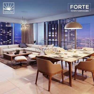 3 Bedroom Apartment for Sale in Downtown Dubai, Dubai - Panoramic Foutains and burj 05 series 3br 7years payment plan