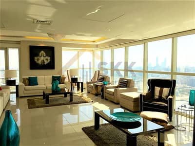 5 Bedroom Penthouse for Rent in Al Reem Island, Abu Dhabi - Fully Furnished 5 BR Penthouse w/ Sea View