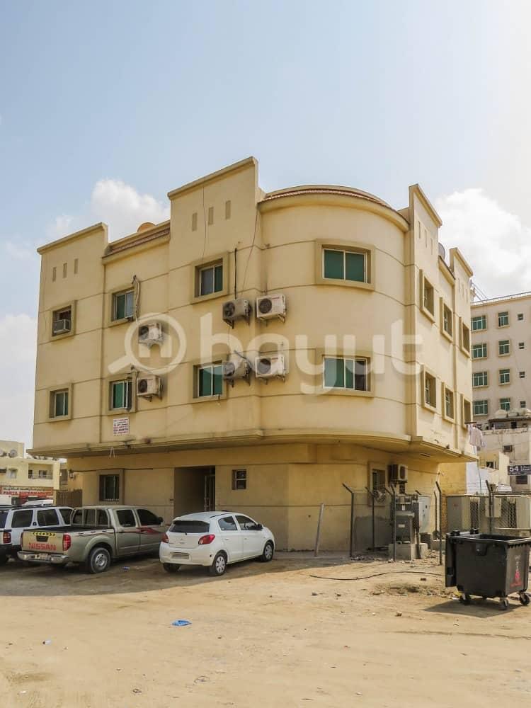 شقة غرفة وصالة للايجار بمنطقة البستان - ليواره 2 - تكييف سبليت- بناية مواطن